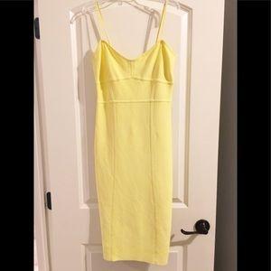 BCBG Max Azria neon yellow Limelight bodycon dress